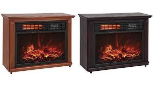 sky2272 sky2379 large room infrared quartz electric fireplace heater honey oak finish w remote