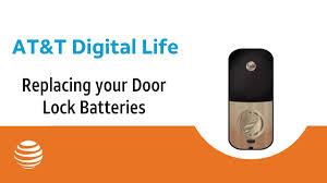 Replacing your door lock batteries | AT&T Digital Life - YouTube