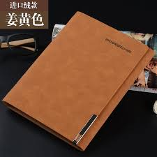 leather cover a5 loose leaf notebook logo customized stationery books commercial notepad spiral binder agenda business book