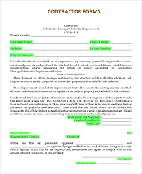 Sample Estimate Forms For Contractors Sample Estimate Form 9 Examples In Pdf Word