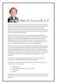 Hilary M. Pearson, CM. LL.D