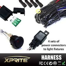 4 leg atv jeep led light bar wiring harness 12v 40 amp relay on image is loading 4 leg atv jeep led light bar wiring