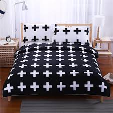 textiles bedding sets simple geometric cross printed duvet cover bed sheet pillow cases size us au uk queen king full twin silver bedding queen bedding from