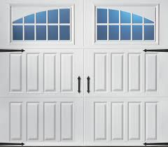 the magnetic hardware on this amarr classica collection garage door gives the look of a real carriage house door