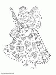 Staggering Barbie Coloring Pages To Print Minecraft Printable Disney