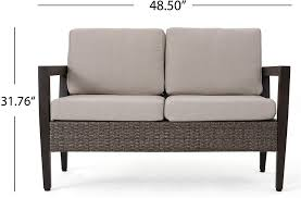 Hd Designs Bali Collection Patio Furniture Bali Patio Furniture 4 Piece Mid Century Styled Outdoor Wicker And Aluminum Conversation Chat Set