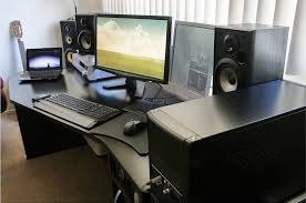 home office computer. dual monitor home office and media center with custom built computer m