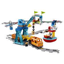 <b>Конструктор LEGO Duplo Town</b> Грузовой поезд 10875 LEGO ...