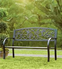 Lovable Outdoor Wrought Iron Bench Cast Iron Benches At Your Garden Metal Bench