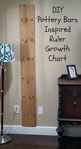Diy Pottery Barn Inspired Ruler Growth Chart Pottery Barn
