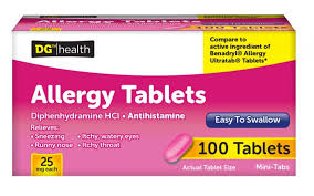 dg health allergy tablets 100 ct