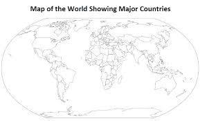Printable World Maps In Black And White And Travel Information