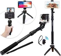 Lifestyle Designs Selfie Stick Premium Hd Rugged 4 In 1 Selfie Stick Tripod Stand Kit Bluetooth Remote Universal Any Iphone Android Gopro Or Camera Iphone Xs Max Xs Xr X 8