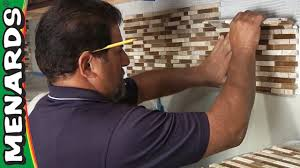 Small Picture Tile Backsplash How To Install Menards YouTube