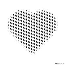 Half Heart Template Heart Gradient Halftone Hearts Background Pop Art Template