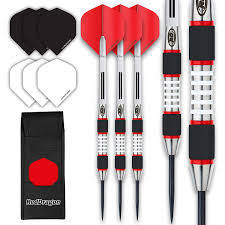 Designer Darts Red Dragon Evos 28g Tungsten Steel Darts With Winmau Rhino Flights Shafts Wallet Red Dragon Checkout Card