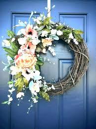Image Diy Door Decorations For Spring Wreath Wreaths Decorating Ideas Preschool Thearbitrator Spring Door Decorations Decoration Ideas For School Decor