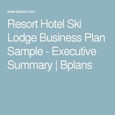 Lodge business plan