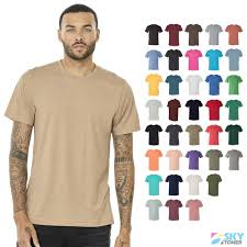 Bella Canvas Unisex Soft Triblend Short Sleeve Tee Modern Fit T Shirt 3413 New