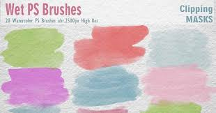 free watercolor brushes illustrator top free photoshop watercolor brushes for designers