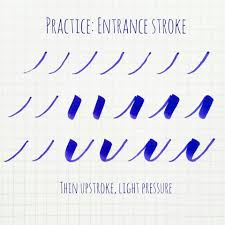 Stroke Charts Calligraphy Basic Brush Calligraphy Strokes The Entrance Exit Stroke