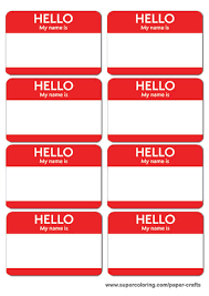 Name Templates Printable Red Name Badges Printable Template Free Printable