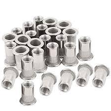 """30PCs 1/4""""-20 Stainless Steel <b>Rivet Nuts</b> Flat Head Insert <b>Nutsert</b> 1 ..."""