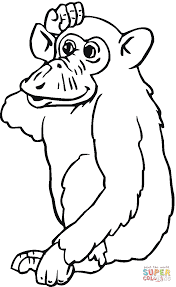 Small Picture Chimpanzee coloring page Free Printable Coloring Pages