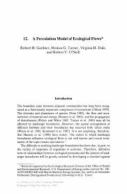 a percolation model of ecological flows springer inside