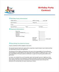 5 Planner Contract Templates Sample Word Google Docs Example