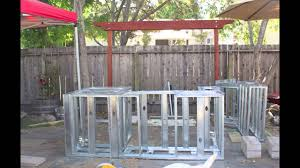 building an outdoor kitchen island