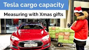 mering tesla cargo e with gifts xmas experiment
