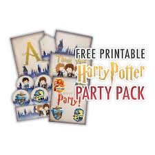 Free Printable Welcome Cards Free Printable Harry Potter Party Pack For All Occasions The