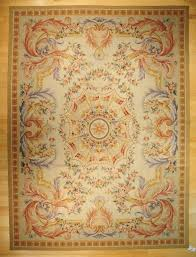 aubusson area rugs blue hand woven wool french flat weave rug