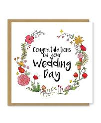 Congratulations On Your Wedding Day A Beautiful Floral Greetings