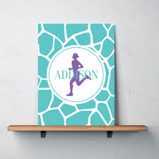 Personalized Bedroom Decor Runner Silhouette Canvas Personalized W Name Giraffe Shop
