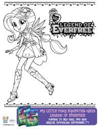 Small Picture My Little Pony Equestria Girls Everfree Coloring Page Kids