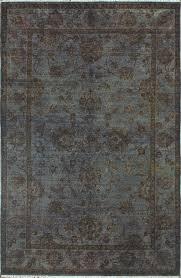 rugsville overdyed earl grey wool 12263 rug 12263