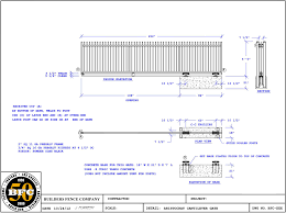picket fence drawing. BFC Works Regularly With Architects, Engineers, Landscape And Designers To Tailor Ornamental Iron Fence The Most Demanding Unique Picket Drawing