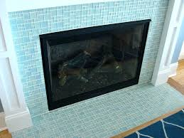 glass tile fireplace surround s gas