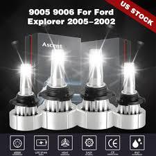 Honda Prelude Light Bulb Size Led Headlight Bulbs Kit 9005 Hb3 9006 Hb4 Lights Fit