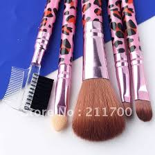 5pc pro leopard veins cosmetic makeup artist blush brushes set tool kits c 004