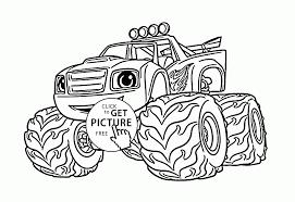 Blaze monster truck drawing clipartxtras