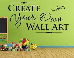 on creating my own wall art with custom wall decal etsy