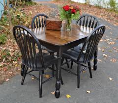 Maple Kitchen Table And Chairs Heir And Space Vintage Oak And Maple Dining Set In Distressed Black