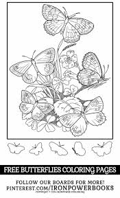 Free Printable Butterfly Coloring Page For
