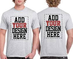 Make Your Shirt Custom 2 Sided T Shirts Design Your Own Shirt Front And Back Printing On Shirts Add Your Image Photo Logo Text Number