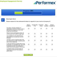 Employment Engagement Survey Template Employee Engagement Consulting Surveys Performex 1