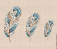 Embroidery Feather Designs