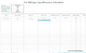 Mileage Tracker Sheet Free Mileage Log Template Business Excel Lupark Co
